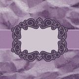 Old card design, yellow vintage frame. EPS 8 Royalty Free Stock Photography