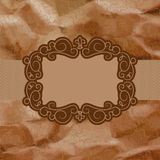 Old card design, yellow vintage frame. EPS 8 Royalty Free Stock Image