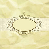 Old card design, yellow vintage frame. EPS 8 Royalty Free Stock Images