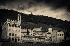 Old card of Gubbio Royalty Free Stock Photo