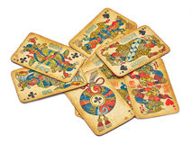 Old card play of Indians Stock Image
