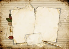 Old card on vintage background Royalty Free Stock Image