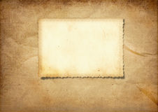 Old card on the vintage background Royalty Free Stock Images