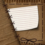 Old cardboard background for design with rope Royalty Free Stock Images