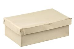 Old cardboard box Royalty Free Stock Photo