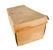 Old cardboard box Stock Images