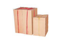 Old cardboard box. Isolated on white Royalty Free Stock Photos