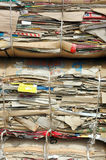 Old cardboard boxes. Pile of old cardboard boxes for recycling Stock Images
