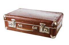Old cardboard suitcase, isolated Stock Photos