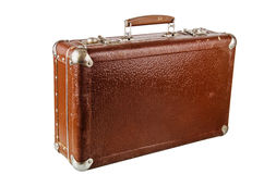 Old cardboard suitcase, isolated Royalty Free Stock Photography