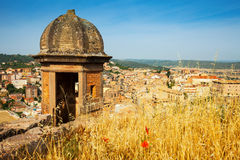 Old Cardona from castle Stock Photography