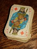 Old Cards Deck royalty free stock photos
