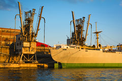 Old cargo vessel Stock Images