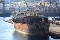 Old cargo vessel Royalty Free Stock Images