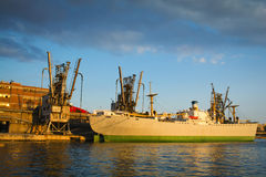 Old cargo vessel Stock Image