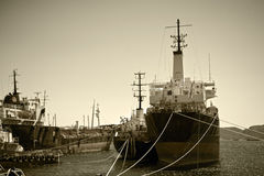 Old cargo vessels Royalty Free Stock Images