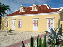 Old Caribbean House. Downtown Oranjestad Aruba. Now is a numismatic museum Royalty Free Stock Image