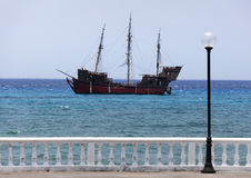 Old Caribbean Ship Royalty Free Stock Photography