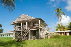 Old caribbean wooden house. Stock Photos