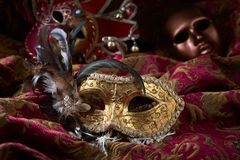 Old carnival masks . Royalty Free Stock Image