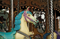 Old carousel Royalty Free Stock Images