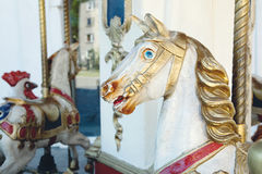 Old carousel horse Royalty Free Stock Photography