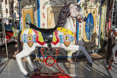 Old carousel horse Stock Photo