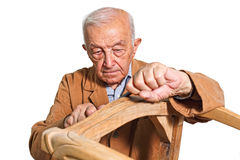 Old carpenter Royalty Free Stock Images