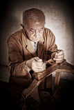 Old carpenter Stock Images