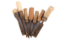 Old carpenter chisels Royalty Free Stock Photography