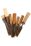 Old carpenter chisels Stock Images