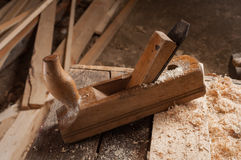 Old carpenter jointer Royalty Free Stock Photography