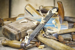 Old carpenter's hammer Royalty Free Stock Images
