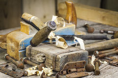Old carpenter's hammer Royalty Free Stock Photo