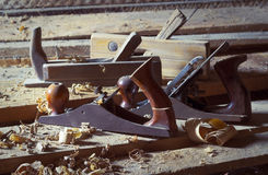 Old carpenter's plane Royalty Free Stock Photography