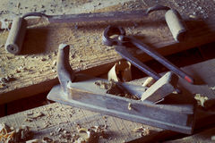 Old carpenter's tool Royalty Free Stock Photo