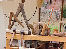 Old carpenter's workshop Stock Image