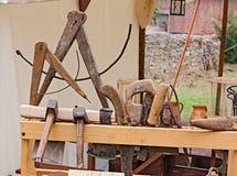 Old carpenter's workshop Stock Image