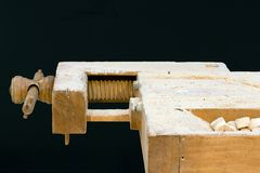 Old Carpenter Table Cutout Stock Images