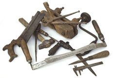 Old Carpenter Tools. Heap of Old Carpenter Tools royalty free stock photography