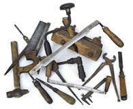 Old Carpenter Tools Royalty Free Stock Images
