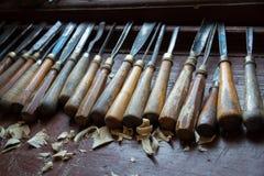 Old carpenter tools Stock Photos