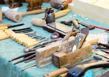 Old carpenter tools Royalty Free Stock Photo