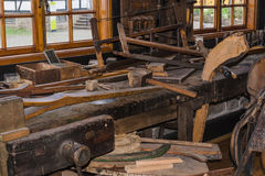 Old carpenter workshop Royalty Free Stock Photos