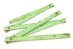 Old carpentry ruler stock photo