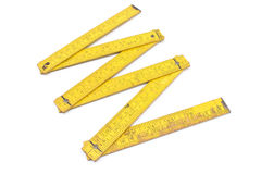 Old carpentry ruler Stock Photo