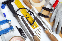 Old carpentry tools Royalty Free Stock Image