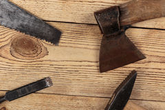 Old carpentry tools Stock Photos