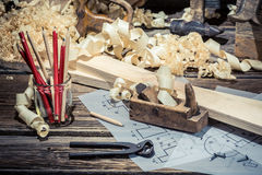 In the old carpentry workshop Royalty Free Stock Photos