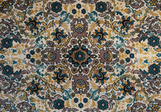 Old carpet with pattern. top view. Royalty Free Stock Image